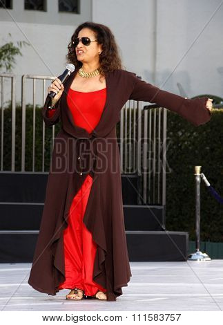 Debbie Allen at the Michael Jackson Hand And Footprint Ceremony held at the Grauman's Chinese Theater, California, United States on January 26, 2012.