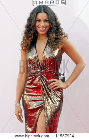 LOS ANGELES, CA - NOVEMBER 23, 2014: Jordin Sparks at the 2014 American Music Awards held at the Nokia Theatre L.A. Live in Los Angeles on November 23, 2014.