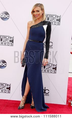 LOS ANGELES, CA - NOVEMBER 23, 2014: Giuliana Rancic at the 2014 American Music Awards held at the Nokia Theatre L.A. Live in Los Angeles on November 23, 2014.