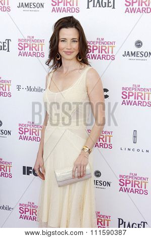 Linda Cardellini at the 2013 Film Independent Spirit Awards held at the Santa Monica Beach in Los Angeles, United States on February 23, 2013.
