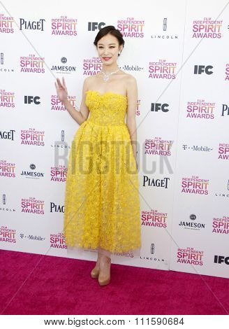 Ni Ni at the 2013 Film Independent Spirit Awards held at the Santa Monica Beach in Los Angeles, United States on February 23, 2013.
