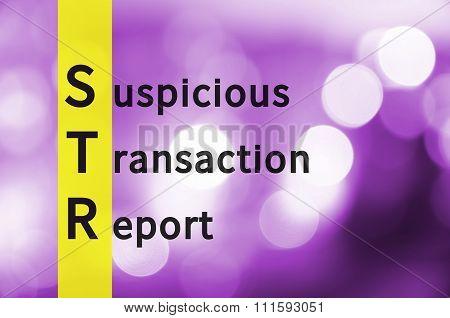 Suspicious Transaction Report