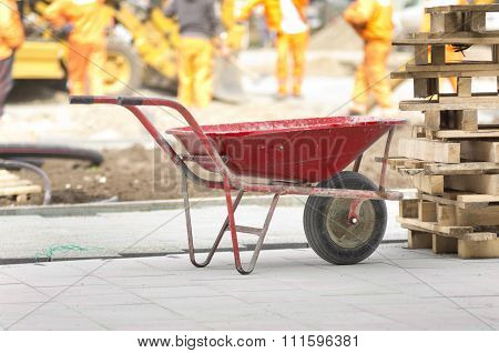 Trolley On Construction Site