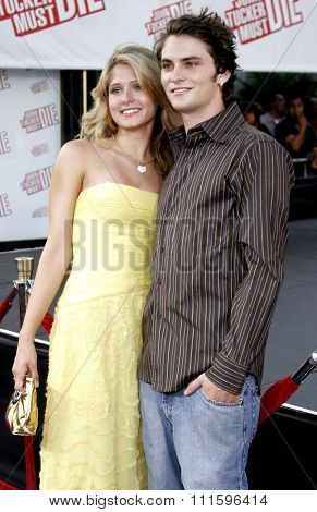 Cameron Goodman and Shiloh Fernandez at the Los Angeles premiere of 'John Tucker Must Die' held at the Grauman's Chinese Theater in Hollywood, USA on July 25, 2006.