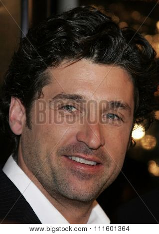 WESTWOOD, CALIFORNIA. January 4, 2007. Patrick Dempsey attends the Los Angeles of