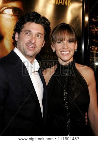 WESTWOOD, CALIFORNIA. January 4, 2007. Patrick Dempsey and Hilary Swank attend the Los Angeles of