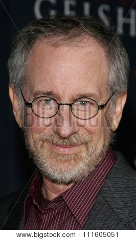 HOLLYWOOD, CALIFORNIA. December 4, 2005. Steven Spielberg attends the Premiere of Memoirs of a Geisha at the Kodak Theater in Hollywood, California United States.