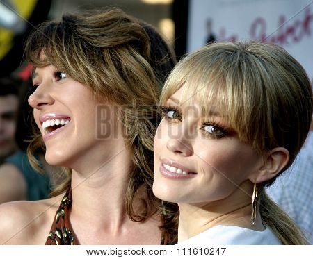 HOLLYWOOD, CALIFORNIA - June 13 2005. Haylie Duff and Hilary Duff attend at the