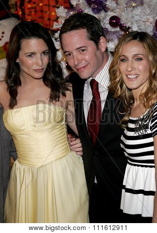 HOLLYWOOD, CALIFORNIA. November 12, 2006. Sarah Jessica Parker, Kristin Davis and Matthew Broderick at the World Premiere of