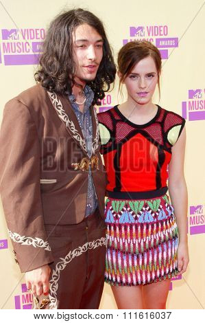 Emma Watson and Ezra Miller at the 2012 MTV Video Music Awards held at the Staples Center in Los Angeles, USA on September 6, 2012.