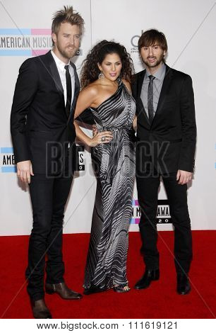 Lady Antebellum at the 2010 American Music Awards held at Nokia Theatre L.A. Live in Los Angeles, USA on November 21, 2010.