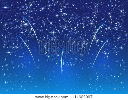 Firework On Blue Sky