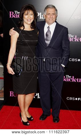 Julie Chen and Leslie Moonves at the Los Angeles premiere of