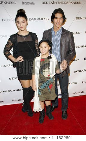 BooBoo Stewart and Fivel Stewart at the Los Angeles premiere of 'Beneath The Darkness' held at the Egyptian Theatre in Hollywood, USA on January 4, 2012.