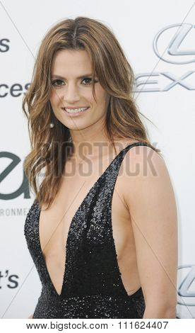 Stana Katic at the 2015 EMA Awards held at the Warner Bros. Studios in Burbank, USA on October 24, 2015.