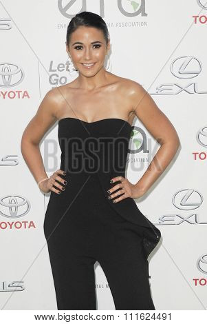 Emmanuelle Chriqui at the 2015 EMA Awards held at the Warner Bros. Studios in Burbank, USA on October 24, 2015.