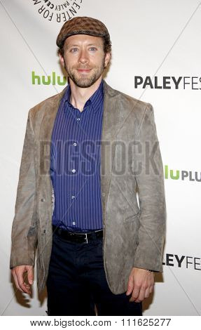 HOLLYWOOD, CALIFORNIA - March 8, 2012. T.J. Thyne at the PaleyFest 2012 Presents