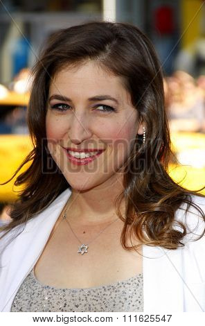 HOLLYWOOD, CALIFORNIA - June 30, 2011. Mayim Bialik at the Los Angeles premiere of