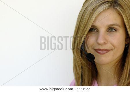 Attractive Call Centre Woman