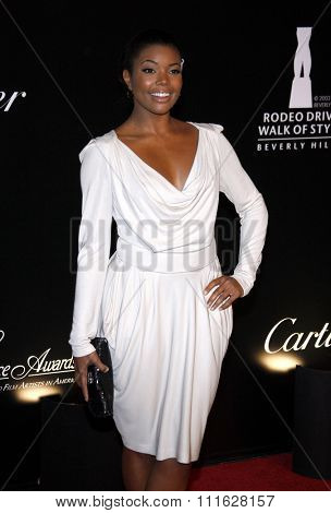 Gabrielle Union at the 2009 Rodeo Drive Walk Of Style Award Ceremony Honoring Princess Grace (Kelly) Of Monaco held at the Rodeo Drive in Beverly Hills, California, United States on October 22, 2009.
