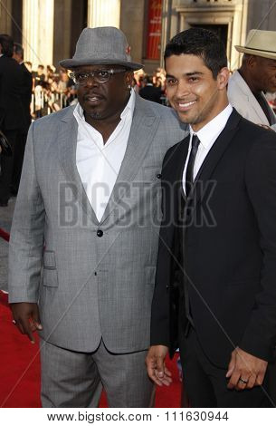 Cedric The Entertainer and Wilmer Valderrama at the Los Angeles premiere of 'Larry Crowne' held at the Grauman's Chinese Theater in Hollywood, USA on June 27, 2011.