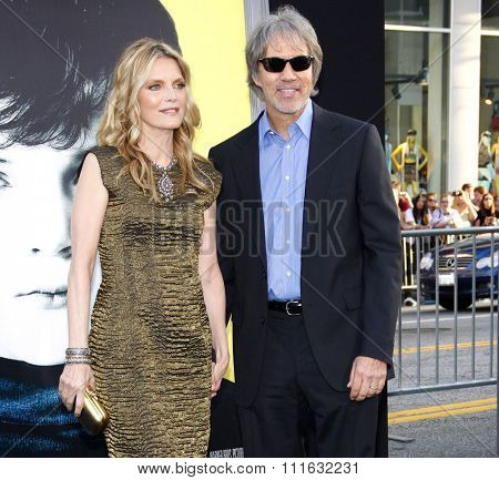 Michelle Pfeiffer and David E. Kelley at the Los Angeles premiere of 'Dark Shadows' held at the Grauman's Chinese Theater in Hollywood, USA on May 7, 2012.