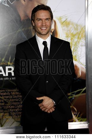 HOLLYWOOD, CALIFORNIA - February 1, 2010. Scott Porter at the World premiere of