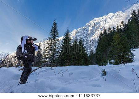 Nature Photographer Shooting Winter Landscapes
