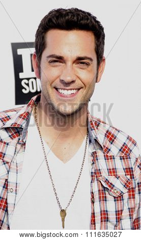 HOLLYWOOD, CALIFORNIA - August 14, 2011. Zachary Levi at the VH1 Do Something Awards held at the Palladium Hollywood, Los Angeles.