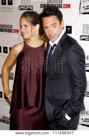 Robert Downey Jr. and Susan Downey at the 25th American Cinematheque Award Honoring Robert Downey Jr. held at the Beverly Hilton hotel in Beverly Hills, California, United States on October 14, 2011.