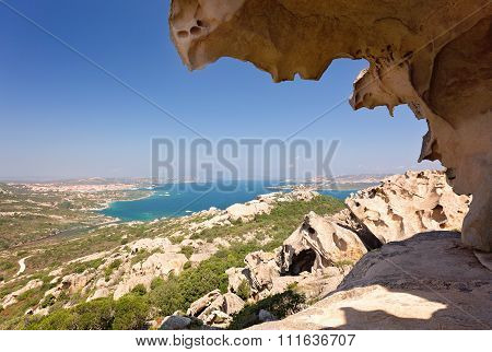 Capo D'orso Palau Sardinia Italy. View from Bear rock. East of the port of Palau you come upon the f