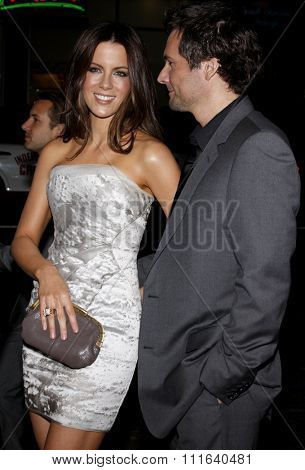 HOLLYWOOD, CALIFORNIA - November 3, 2009. Kate Beckinsale and Len Wiseman at the AFI FEST 2009 Screening of