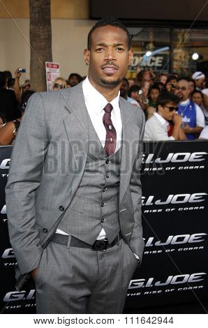 HOLLYWOOD, CALIFORNIA - August 6, 2009. Marlon Wayans at the Los Angeles premiere of
