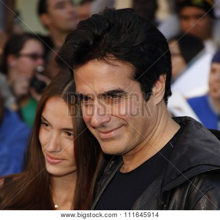 David Copperfield at the Los Angeles Premiere of