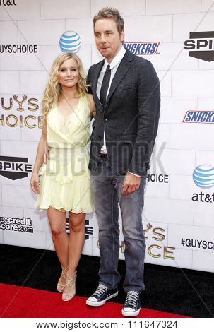 LOS ANGELES, CALIFORNIA - June 2, 2012. Kristen Bell and Dax Shepard at the Spike TV's 6th Annual