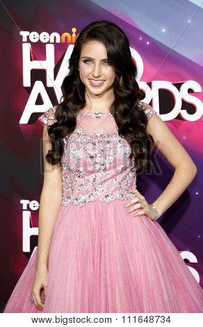 Ryan Newman at the 2012 TeenNick HALO Awards held at the Hollywood Palladium in Los Angeles, California, USA on November 17, 2012.