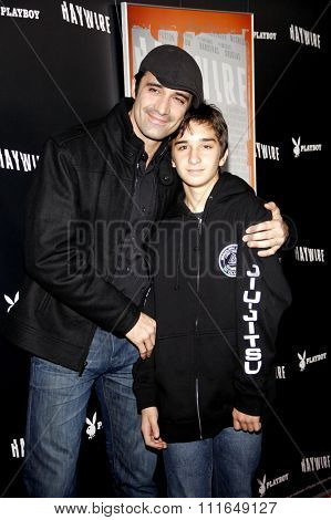 HOLLYWOOD, CALIFORNIA - January 5, 2012. Gilles Marini at the Los Angeles premiere of