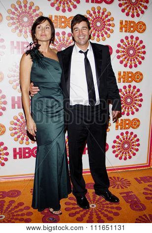 Kyle Chandler and Kathryn Chandler at the HBO's 2011 Emmy After Party held at the Pacific Design Center in West Hollywood, California, United States on September 18, 2011.