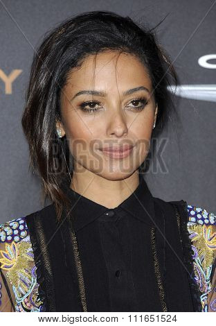 Meta Golding at the Los Angeles premiere of 'The Hunger Games: Mockingjay - Part 2' held at the Microsoft Theater in Los Angeles, USA on November 16, 2015.