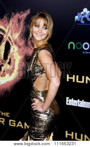 Jennifer Lawrence at the Los Angeles Premiere of
