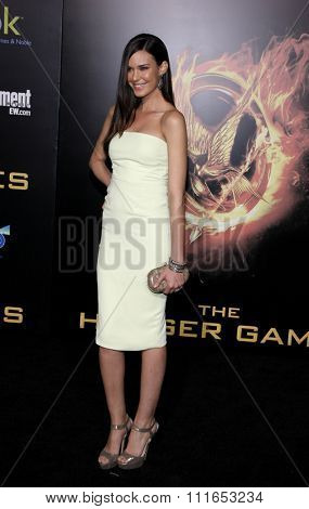 LOS ANGELES, CALIFORNIA - March 12, 2012. Odette Annable at the Los Angeles premiere of
