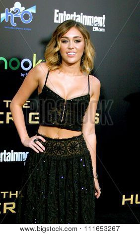 LOS ANGELES, CALIFORNIA - March 12, 2012. Miley Cyrus at the Los Angeles premiere of