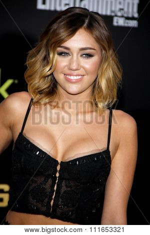 Miley Cyrus at the Los Angeles Premiere of