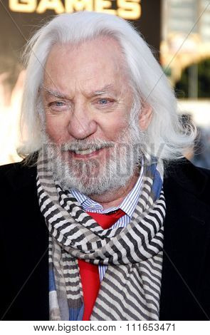 Donald Sutherland at the Los Angeles Premiere of