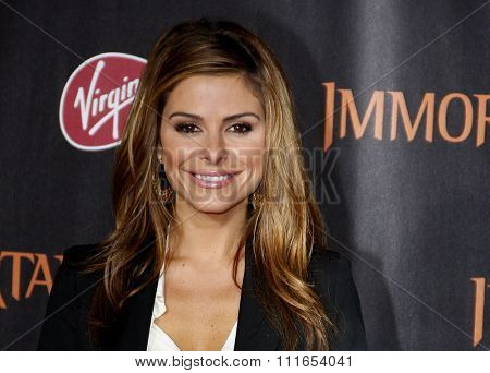 LOS ANGELES, CALIFORNIA - November 7, 2011. Maria Menounos at the World premiere of