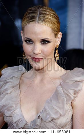 HOLLYWOOD, CALIFORNIA - April 26, 2010. Leslie Bibb at the World premiere of