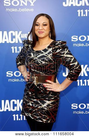 HOLLYWOOD, CALIFORNIA - November 6, 2011. Melanie Amaro at the World Premiere of