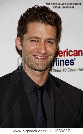 BEVERLY HILLS, CALIFORNIA - April 15, 2011. Matthew Morrison at the Taste For A Cure 2011 held at the Beverly Wilshire Hotel in Los Angeles.