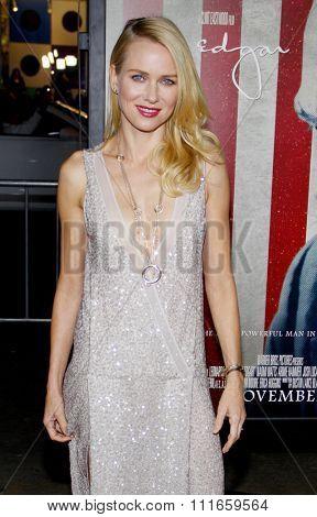 HOLLYWOOD, CALIFORNIA - November 3, 2011. Naomi Watts at the AFI Fest 2011 Opening Night Gala World Premiere Of