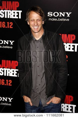 Tony Hawk at the Los Angeles Premiere of